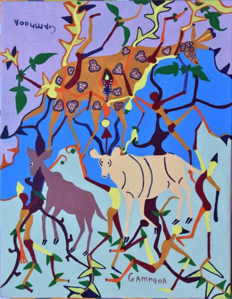 Giraffe, Kudus and Tree of Life